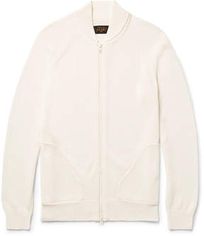 Beams Cotton Zip-Up Cardigan