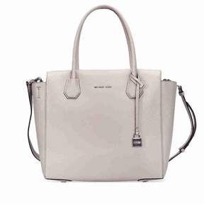 Michael Kors Large Mercer Pebbled Satchel - Cement - GRAYS - STYLE