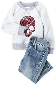 Hudson Infant Boys) Two-Piece Skull Pullover Set