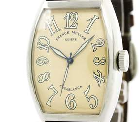 Franck Muller Casablanca 5850 Stainless Steel & Leather Automatic 32mm Mens Watch