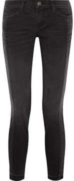 Current/Elliott The Seamed Easy Stiletto Mid-rise Stretch-denim Skinny Jeans - Black