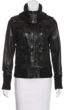Neiman Marcus Leather Bomber Jacket
