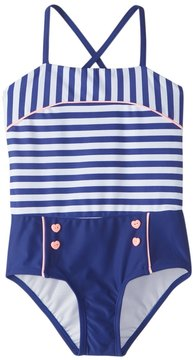 Hula Star Girls' Ships Ahoy One Piece Swimsuit (2T6X) - 8154263