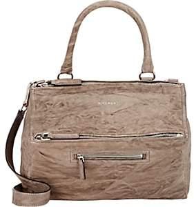 Givenchy Women's Pandora Pepe Medium Leather Messenger Bag-Charcoal