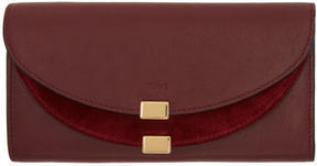Chloé Purple Long Georgia Flap Wallet