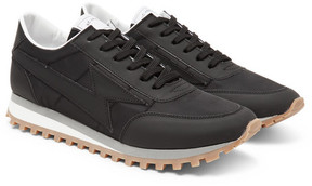 Marc Jacobs Bolt Matte-Leather And Shell Sneakers