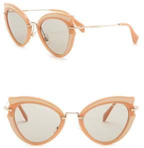 Miu Miu Butterfly 52mm Acetate Frame Sunglasses