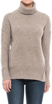Adrienne Vittadini Recovery Yarn Turtleneck Sweater - Wool Blend (For Women)