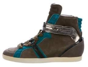 Barbara Bui Suede Wedged Sneakers