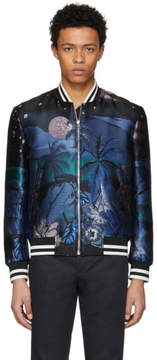 Paul Smith Jacquard Hawaiian Moon Bomber Jacket