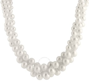 Bella Pearl Triple Row Freshwater Pearl Twist Necklace