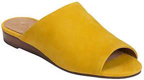 Aerosoles Leather Slide Sandals - Bitmap