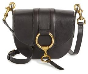 Frye Small Ilana Harness Leather Saddle Bag - Black
