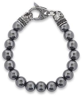 Dragon Optical West Coast Jewelry Crucible Stainless Steel with Polished Hematite Beaded Bracelet
