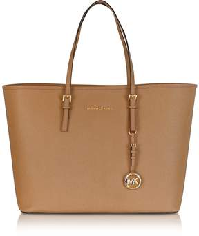 Michael Kors Acorn Saffiano Leather Jet Set Travel Top Zip Tote - ONE COLOR - STYLE