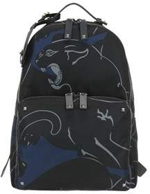 Valentino Men's Multicolor Polyamide Backpack.