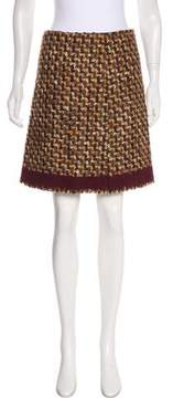 Prada Mini Tweed Skirt