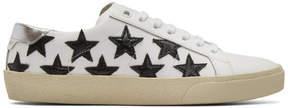 Saint Laurent White and Black Court Classic California Sneakers