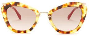 Miu Miu Women's Cate Eye Acetate Frame Sunglasses