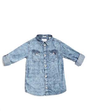 GUESS Mineral-Wash Chambray Shirt (7-18)
