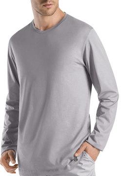 Hanro Night & Day Long-Sleeve Shirt, Gray