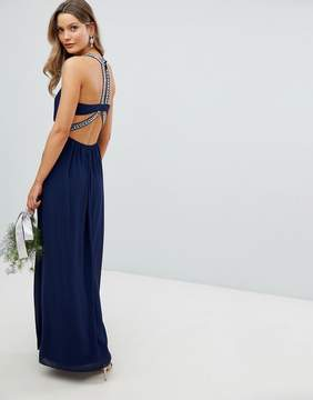 TFNC Embellished Back Detail Maxi Bridesmaid Dress