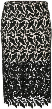 Emporio Armani sheer lace pencil skirt