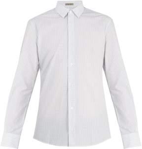 Bottega Veneta Single-cuff checked cotton shirt
