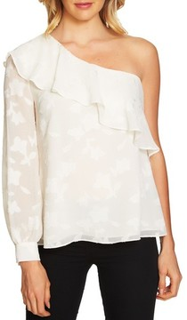 CeCe Women's Ruffled One-Shoulder Top