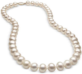 Belle de Mer Cultured Freshwater Pearl (8-1/2mm) Strand in 14k Gold