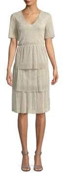 Vero Moda Tiered Sequin Dress