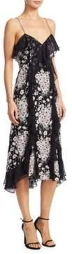 Cinq à Sept Joelle Floral Silk Dress