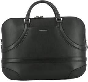 Alexander McQueen Men's Black Leather Briefcase.