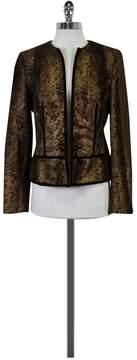 Adrienne Vittadini Bronze Textured Jacket