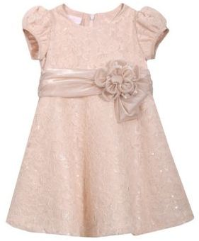Iris & Ivy Baby's Sequin Lace Fit-&-Flare Dress