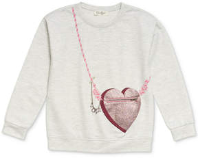 Jessica Simpson Heart Purse-Pocket Sweatshirt, Big Girls (7-16)