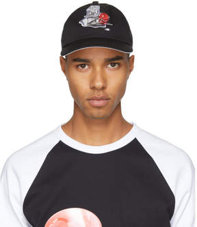 Acne Studios Black Spilled Cocktail Calis Soft Baseball Cap