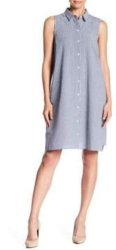 Eliza J Sleeveless Button Front Shirt Dress