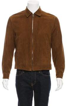 Salvatore Ferragamo Suede Zip-Up Jacket