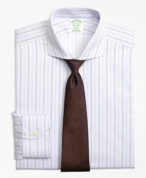 Brooks Brothers Milano Slim-Fit Dress Shirt, Non-Iron Double Alternating Stripe