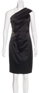 David Meister Embellished One-Shoulder Dress w/ Tags
