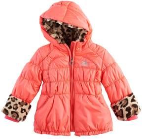 ZeroXposur Toddler Girl Natalia Heavyweight Leopard Trim Jacket