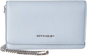 Givenchy Leather Flap Wallet On Chain