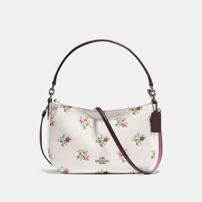 COACH Coach Chelsea Crossbody With Cross Stitch Floral Print - DARK GUNMETAL/CHALK CROSS STITCH FLORAL - STYLE