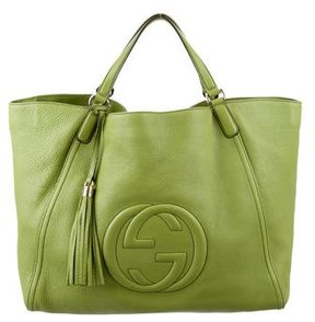 Gucci Large Soho Tote - GREEN - STYLE