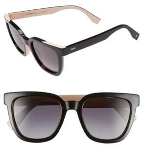 Women's Fendi 51Mm Sunglasses - Black/ Pink