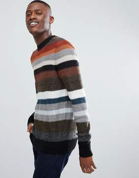 Kiomi Stripe Sweater With Multi Texture