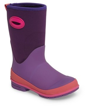 Western Chief Girl's Neoprene Purple Snow Boot