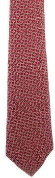 Hermes Horsebit Pattern Silk Tie