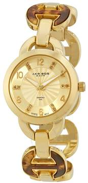 Akribos XXIV Gold-Tone Ladies Watch